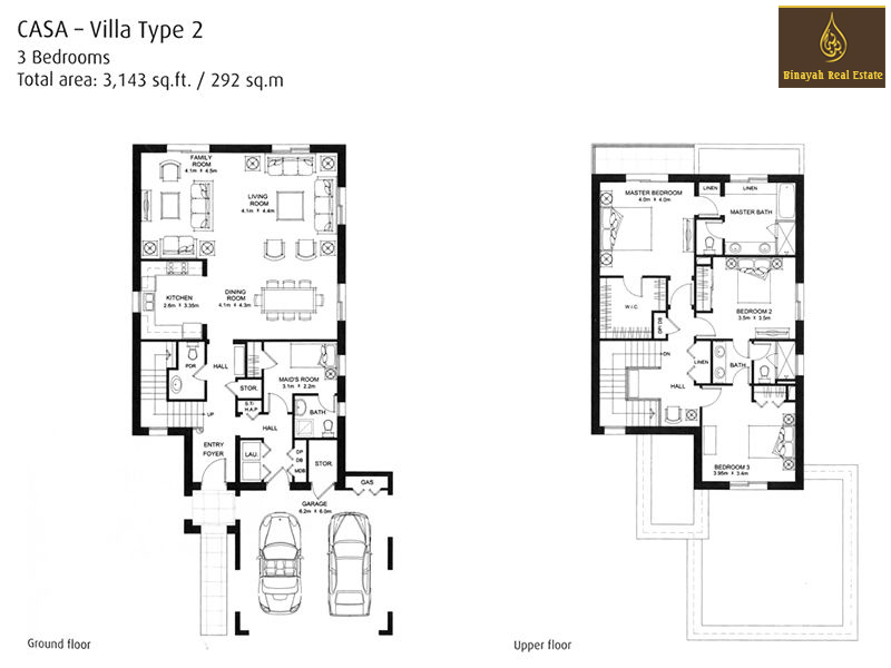 Casa floor plans casa villa for sale and rent in dubai for Plan villa r 2