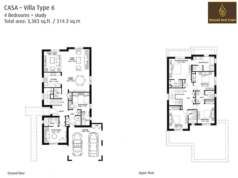 Casa floor plans casa villa for sale and rent in dubai for Planner casa